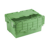 ATTACHED LIDDED CONTAINER GREEN 360330