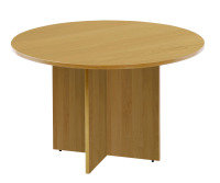 FF ARISTA ROUND MEETING TABLE OAK