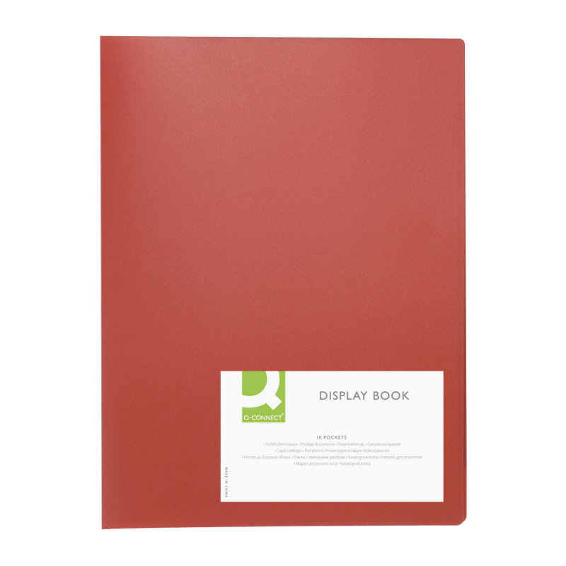Q CONNECT DISPLAY BOOK 10POCKET RED