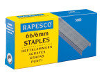 Rapesco 66/6mm Galvanised Staples