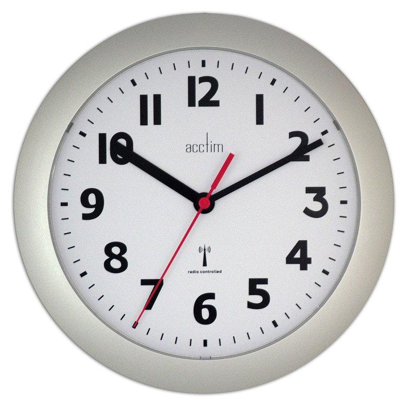 ACCTIM PARONA RC WALL CLOCK SILV 74317