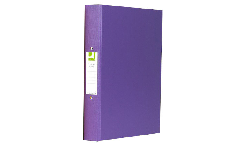 Q Connect A4 2 Ring Binder Pp Purple - 10 Pack