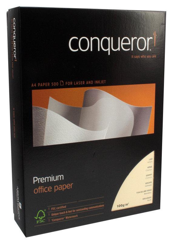 Image of CONQUEROR LAID VELLUM A4 100GSM PK500