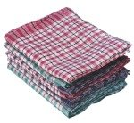 Assorted Check Design Tea Towels 430x680mm (10 Pack)