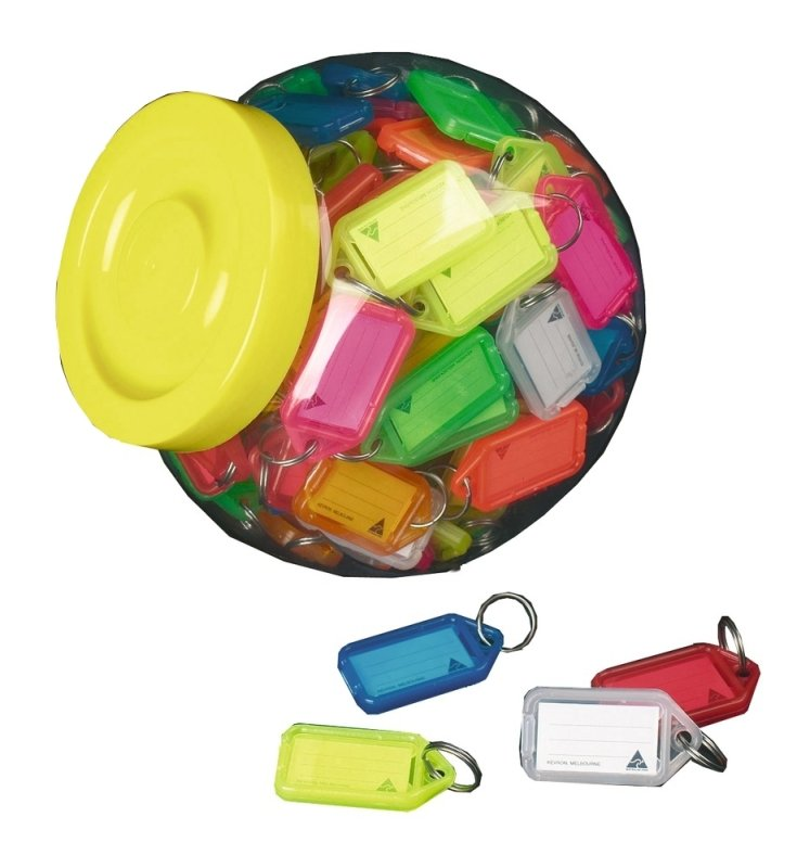 Image of Kevron Clicktag Plastic Assorted 100 Pack