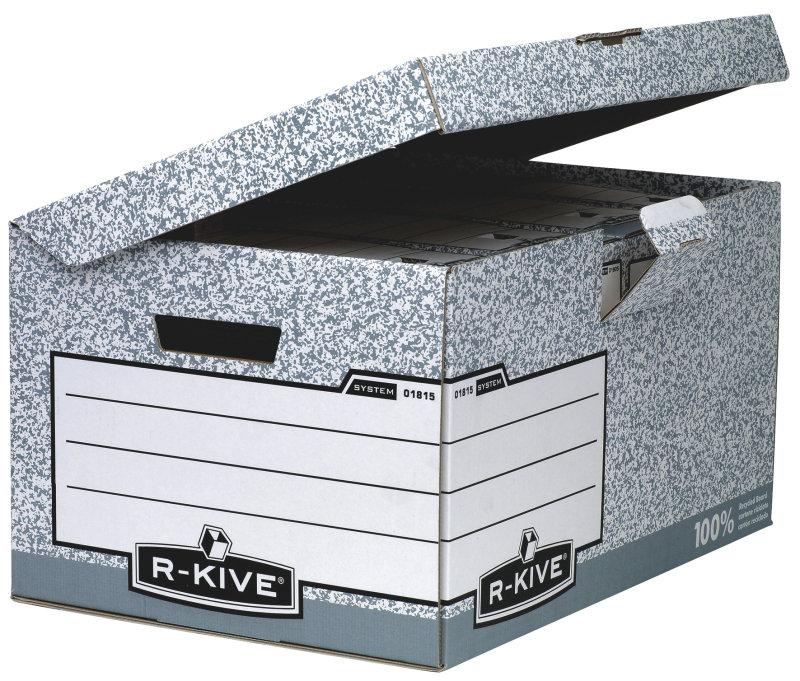 Fellowes R-kive Fliptop Storage Box Grey - 10 Pack