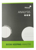 Silvine A4 Analysis Book - 6 Pack