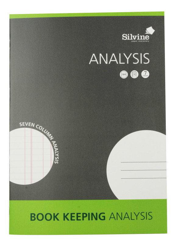 Silvine A4 Analysis Book - 6 Pack