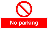 SIGNSLAB 300X500 NO PARKING PVC ML01929R