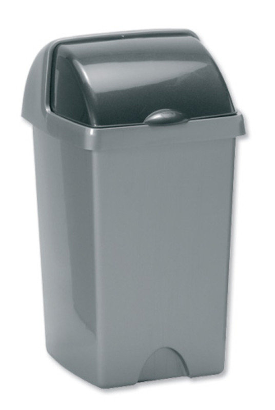 Image of ADDIS 24 LITRE ROLL TOP BIN METALLIC