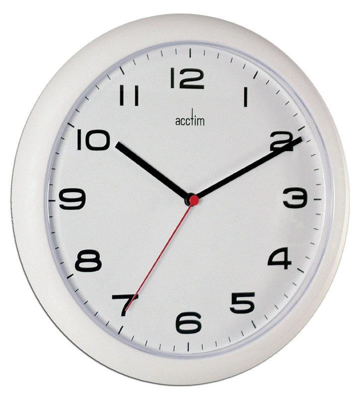 Image of ACCTIM AYLESBURY WALL CLOCK WHT 92/301