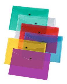 Q-Connect Document Folder Polypropylene A4 Assorted (Pk 12)
