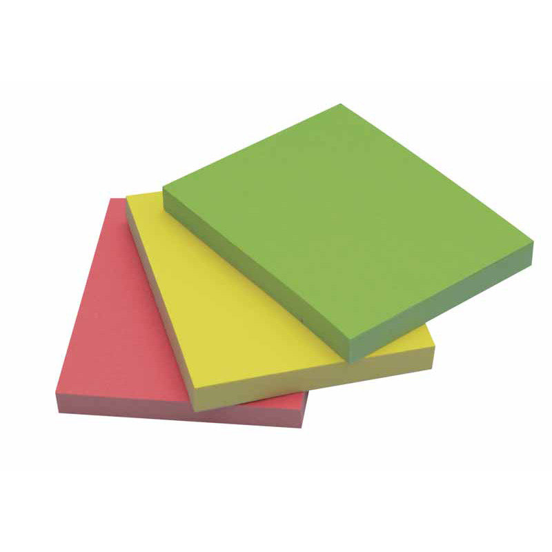 Q Connect Quick Sticky Note 40x50mm Neon - 3 Pack