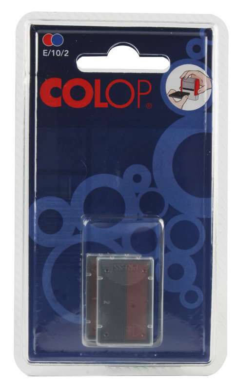 Image of COLOP E/10/2 REP PADS BLUE/RED PACK2