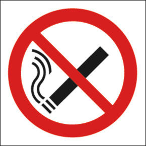 No Smoking 100x100mm S/a Kp01n/s - 5 Pack