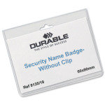 Durable Security Badge Without Clip 60x90mm 20 Pack