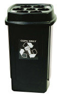 DISPOSABLE CUP BIN BLK/GRY 354185