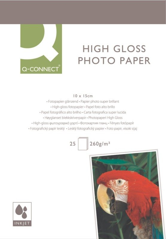 Q-Connect Photo Paper High Gloss Paper 10X15CM 260G P25
