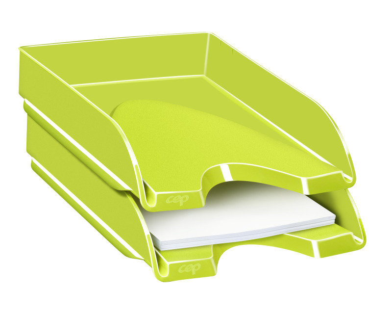 Image of Ceppro Gloss Letter Tray Green 200g