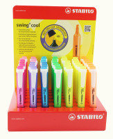 STABILO SWING HLIGHTER DISP 42PCS ASST