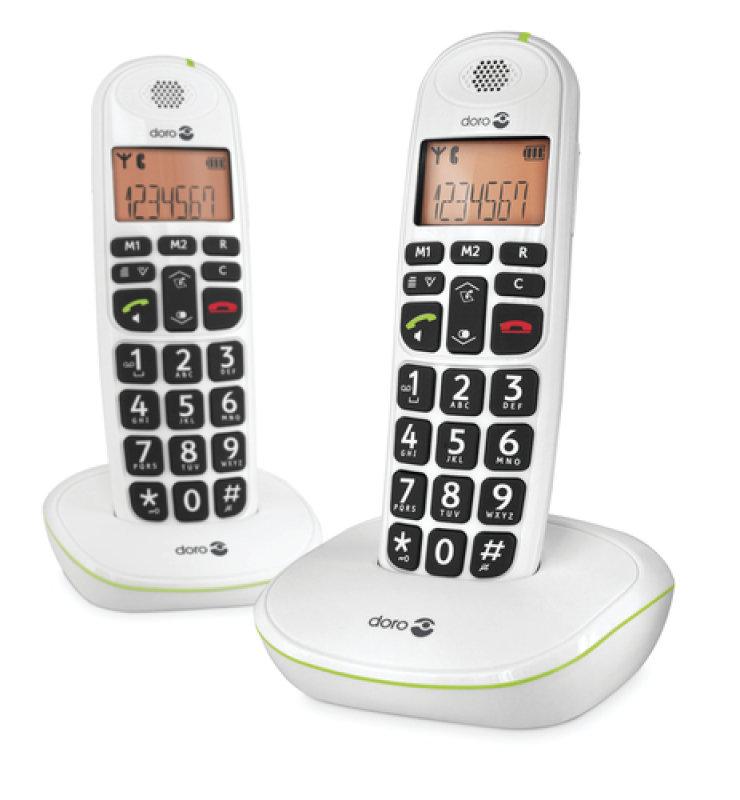 Doro Big Button Digital Cordless Telephone - Twin Pack