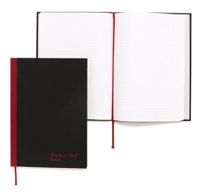 Blk N Red Manubk A5 Ft 100080459 - 5 Pack