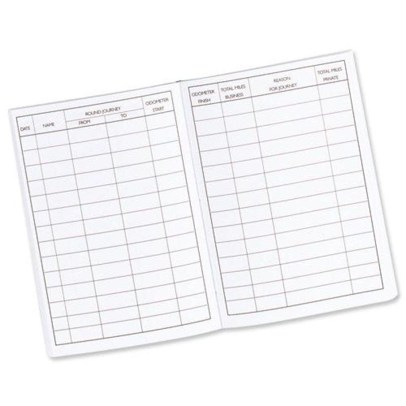 Guildhall Vehicle Mileage Log Book 60 Pages Black