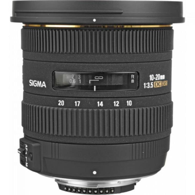 Sigma 10-20mm f/3.5 EX DC HSM Wide Angle Zoom Lens Nikon AFD Fit
