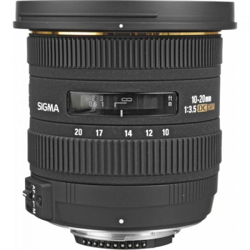 Sigma 10-20mm f/3.5 EX DC HSM Wide Angle Zoom Lens Nikon AFD Fit