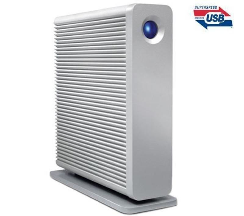 Lacie D2 Quadra Hard Disk External Hard Drive  3 Tb (white)