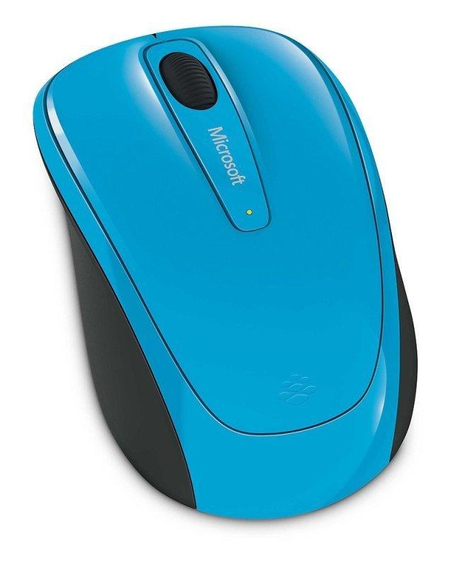 Microsoft Wireless Mobile Mouse 3500 - Cyan Blue Gloss