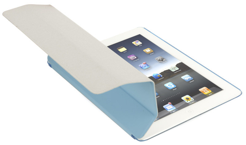 Image of CnM Blue iPad Front Cover and Translucent Backshield