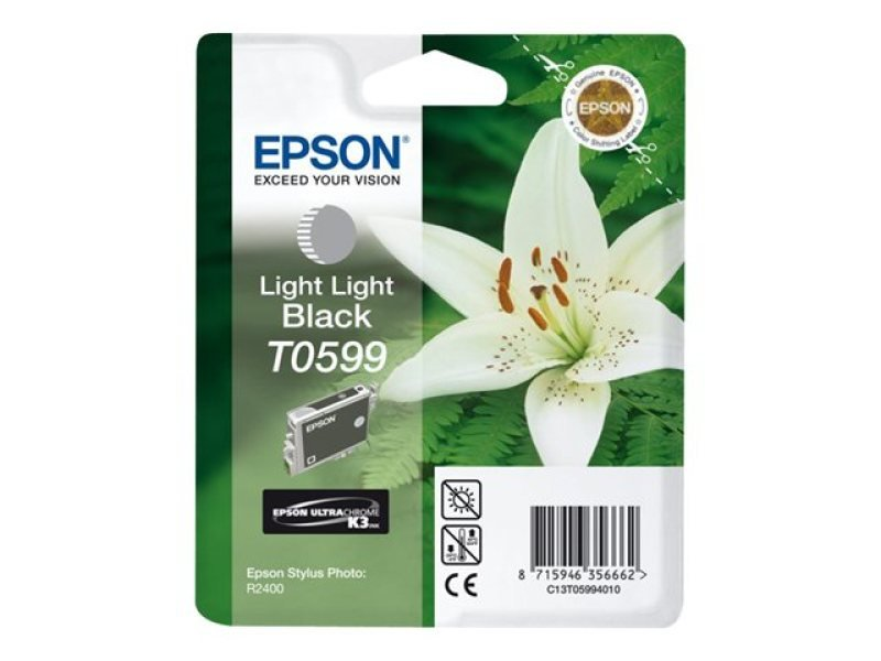 Epson T0599 Pigmented Light Light Black Ink Cartridge