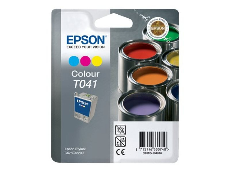 Epson T041 37ml Colour Ink Cartridge 300 Pages