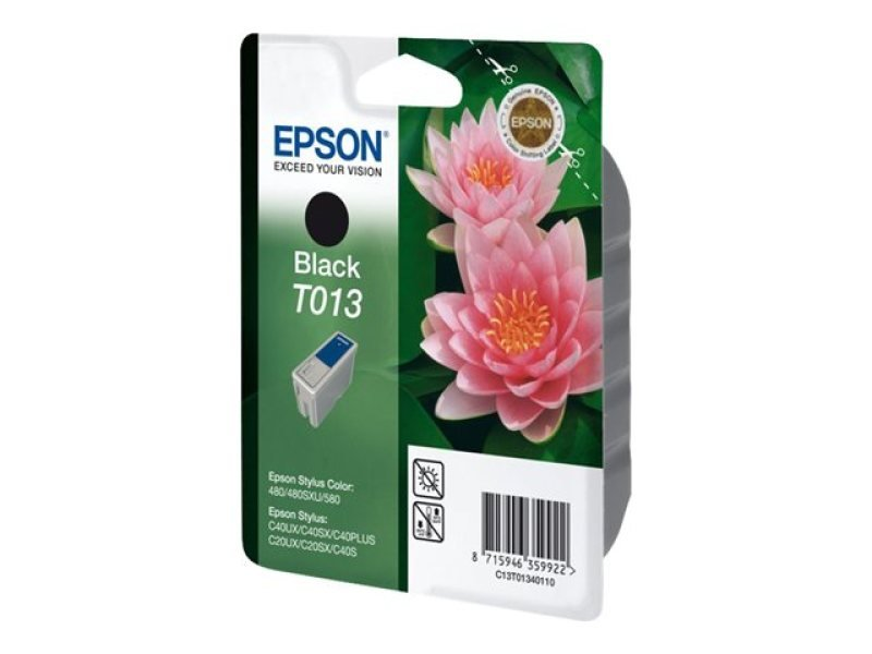 Epson T013 - Print cartridge - 1 x black - 300 pages