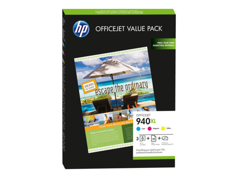 HP 940XL Officejet Brochure Value Pack Print cartridges