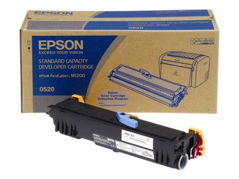 Epson Black Laser Toner Cartridge 1,800 Pages for M1200