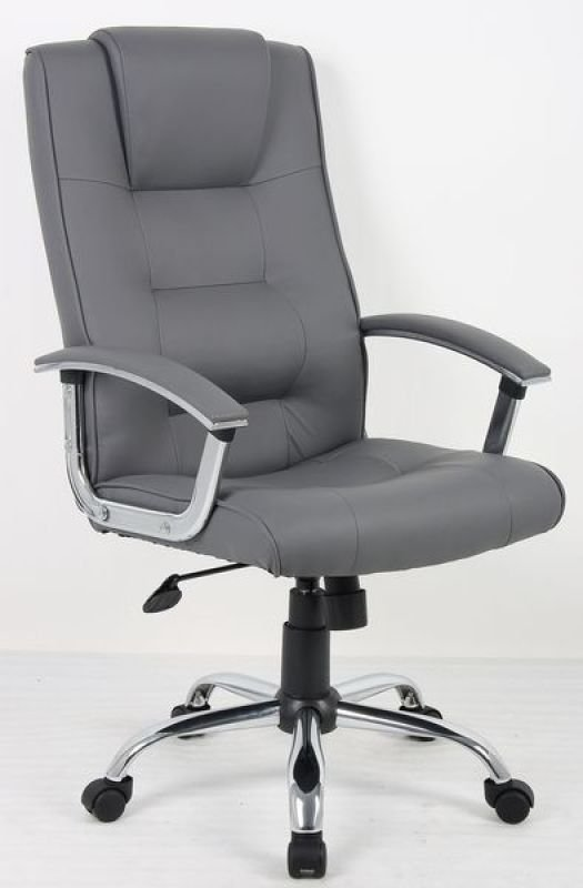 HH Solutions Adjustable Executive Leather Chair Grey Ebuyer