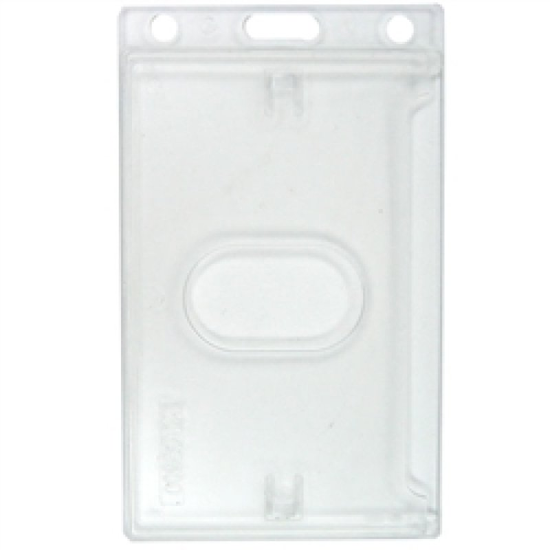 Image of Rigid Frosted Polycarbonate - Badge Holder Vertical-pack 100