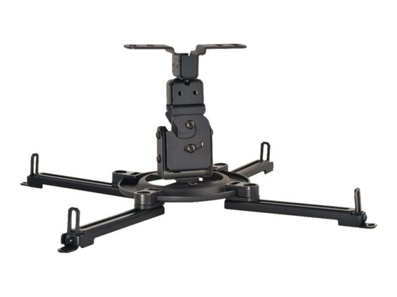 Image of Peerless Paramount Ppf Flush Ceiling Projector Mount Black 23kg (50lbs) Universal 180-420mm