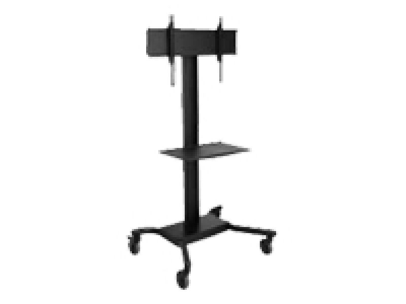 Image of Peerless SR560M Flat Panel TV Cart with Metal Shelf