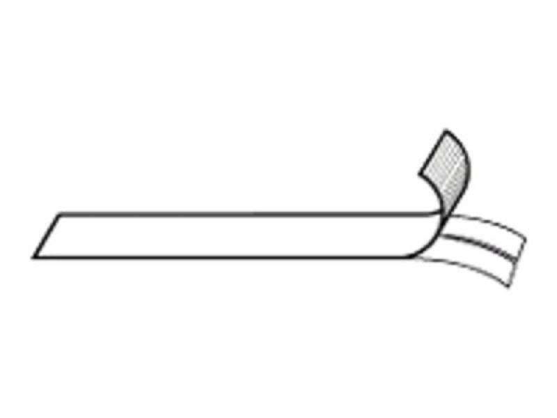 RHINOPRO VINYL LABELS - 12MM X 5.5M BLACK ON WHITE