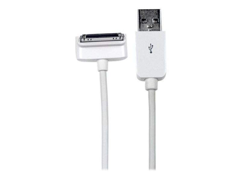 StarTech.com Down Angle Apple&reg 30pin Dock to USB Cable iPhone iPod iPad