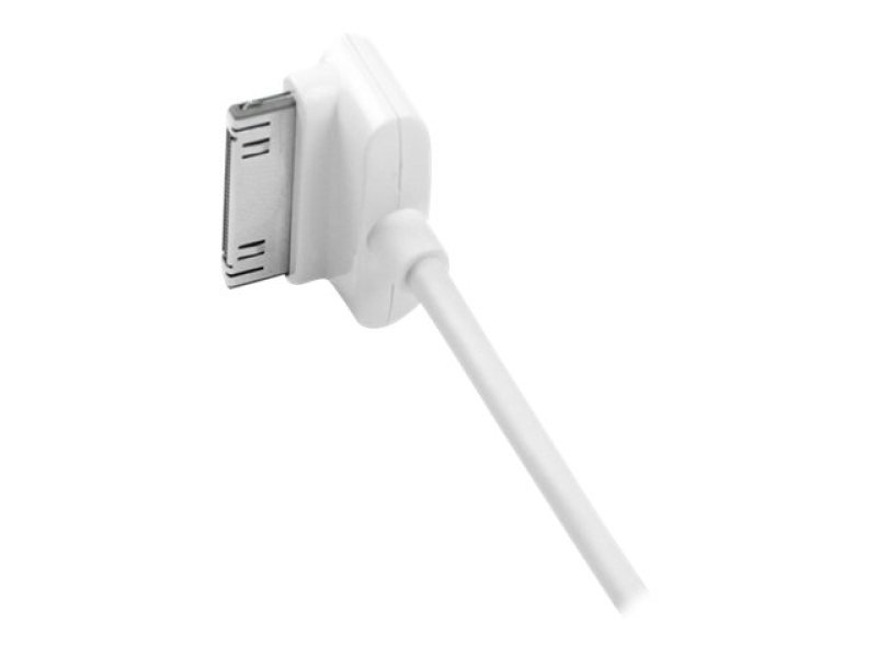 Image of 1m Down Angle Apple 30-pin Dock - To Usb Cable Iphone Ipod Ipad In