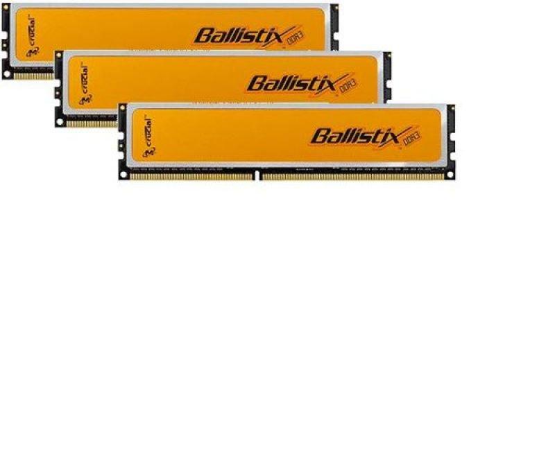 Crucial 6GB (3x2GB) DDR3 1600MHz/PC3-12800 Ballistix Memory
