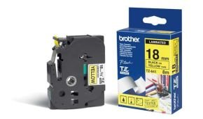 Brother TZe S641 Laminated extra strength adhesive tape- Black on Yellow