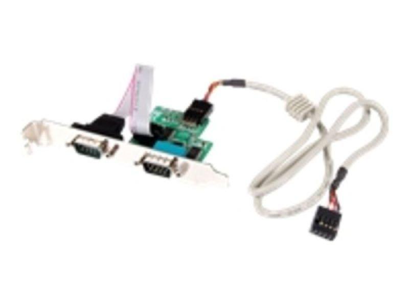 StarTech.com 24in Internal USB Motherboard Header to 2 Port Serial RS232 Adapter