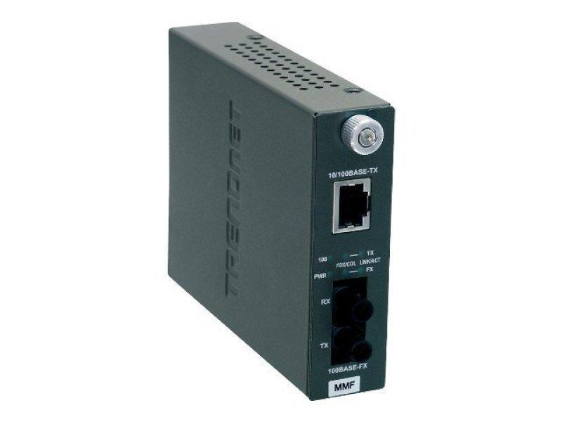 Image of 100base-tx To 100base-fx Multi Mode St Fiber Converter (2km)