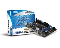 MSI H61M-P31/W8 Socket 1155 VGA DVI 8 Channel Audio mATX Motherboard