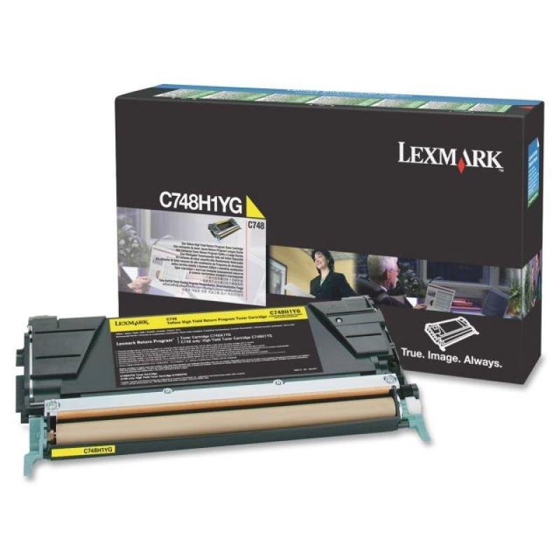 Lexmark C748 Yellow High Yield  Toner Cartridge